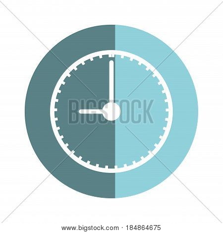 sticker clock to know the time of day, vector illustrations