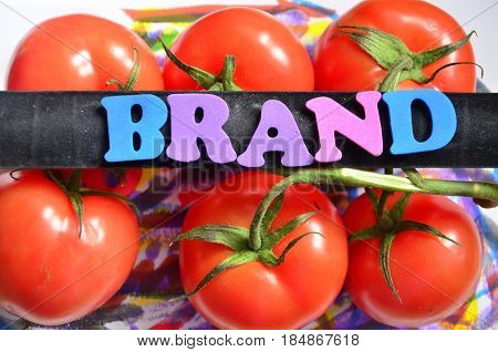 word brand on a  abstract colorful background