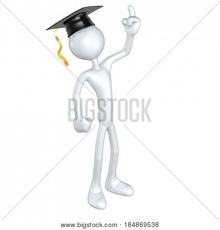 Graduate Having A Eureka Moment The Original 3D Character Illustration