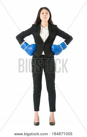 Businesswoman Ready For The Competition