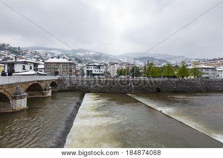 View Of The Historic Centre Of Sarajevo - Bosnia And Herzegovina