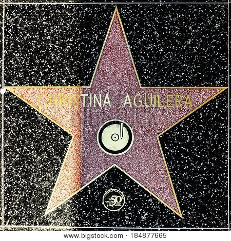 Christina Aguileras Star On Hollywood Walk Of Fame
