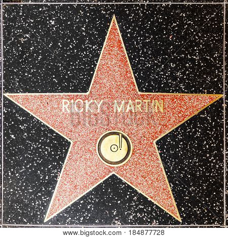 Ricky Martins Star On Hollywood Walk Of Fame