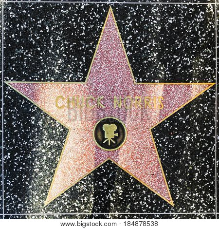 Chuck Norris Star On Hollywood Walk Of Fame
