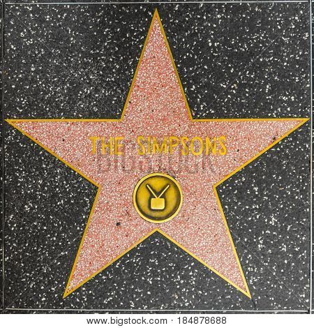 The Simpsons Star On Hollywood Walk Of Fame