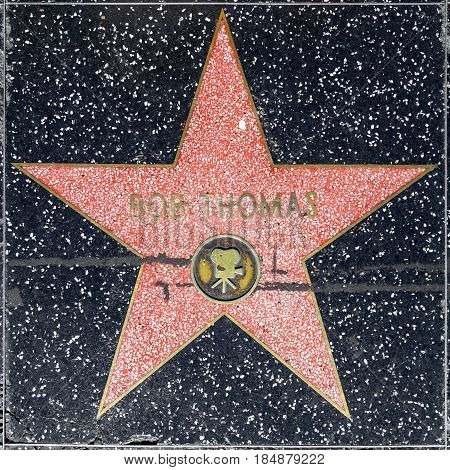 Bob Thomas Star On Hollywood Walk Of Fame