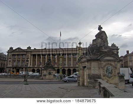 PARIS, FRANCE  JUNE 6, 2015: The square in front of the palace itself Grand Palais (Big Palace) in Paris, FRANCE