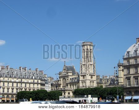 PARIS, FRANCE  JUNE 6, 2015: Notre Dame (Notre Dame de Paris; Notre Dame de Paris). Paris. FRANCE