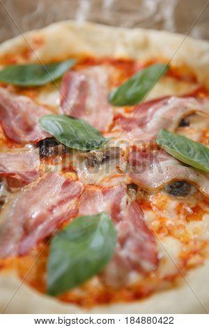 Italian Pizza Dish In Cafe Food Menu