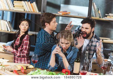 Young Couple Quarrel