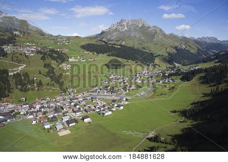 Lech valley in the summer