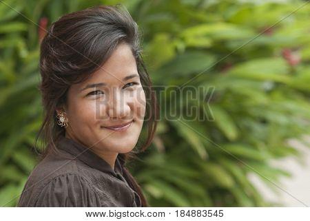 Smiling Hispanic teenage girl