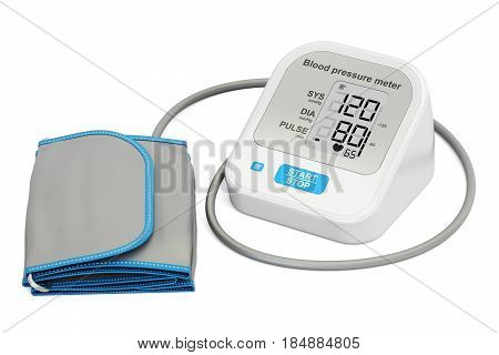 electronic sphygmomanometer 3D rendering isolated on white background