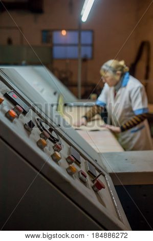 Industrial machine tools in production  manufacturing, metal,