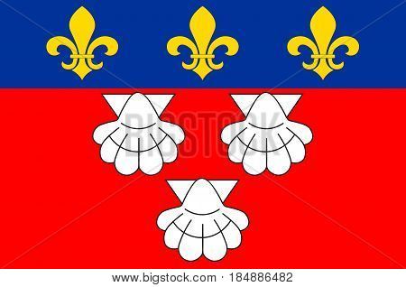 Flag of Aurillac is a French commune capital of the Cantal department in the Auvergne region of south-central France