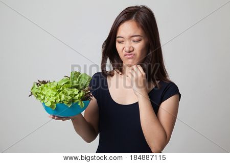 Asian Woman Hate Salad.