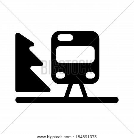 Train outline vector. Isolated on white. Eps 10