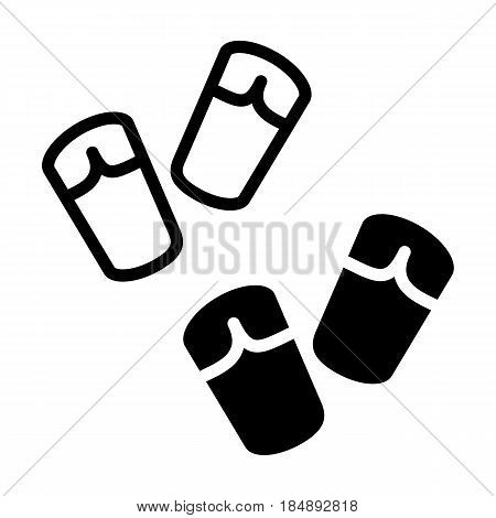 Two Pair of flip-flops isolated on white background. Vector icon. Eps 10