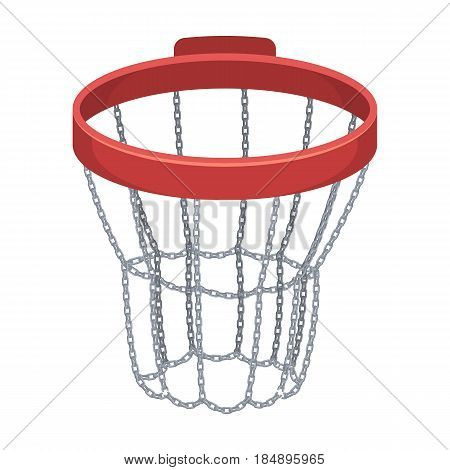 Basketball hoop. Basketball single icon in cartoon style