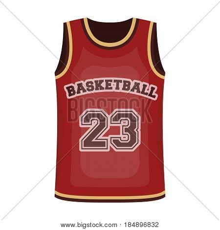 Basketball jersey. Basketball single icon in cartoon style
