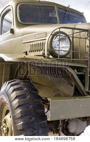 Military Retro Car
