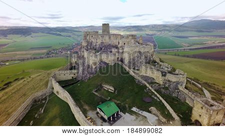 Spis castle (Spissky hrad), Slovakia, aerial view