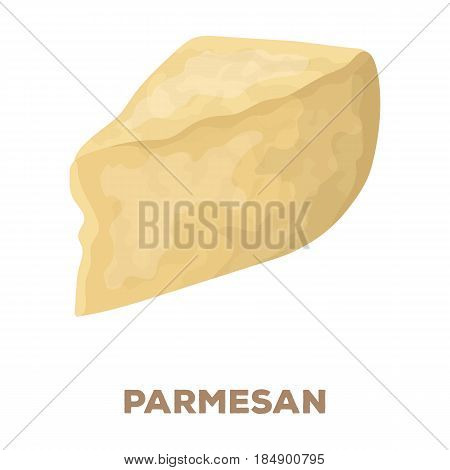Parmesan.Different kinds of cheese single icon in cartoon style rater, bitmap symbol stock illustration .