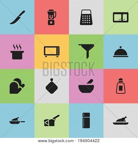 Set Of 16 Editable Meal Icons. Includes Symbols Such As Soup, Bakery, Salver And More. Can Be Used For Web, Mobile, UI And Infographic Design.