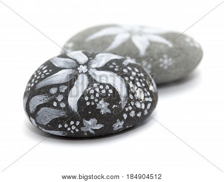 Lava Pebble Painting