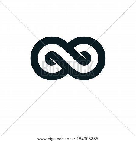 Infinity Loop conceptual logo vector special sign.