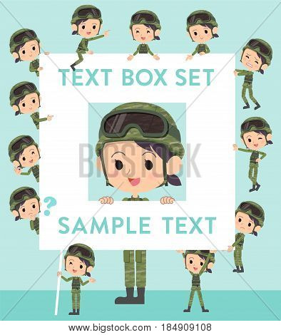 Military Wear Woman Text Box
