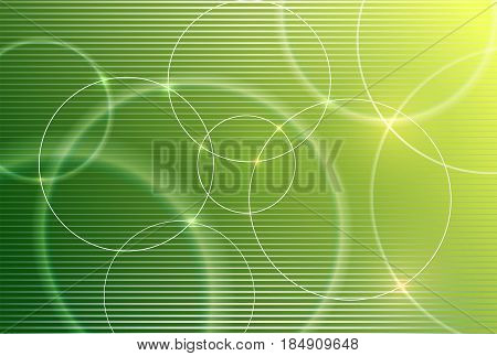 Abstract vector background for design, graphic layout. Modern abstract art with blur green eco shapes for tech, market, innovative technology. Circles, rounds, lines.