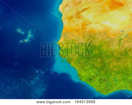 Gambia On Physical Map