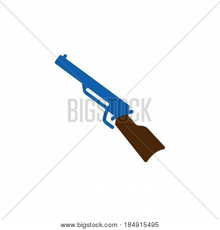 Shotgun carbine icon vector filled flat sign solid colorful pictogram isolated on white. Symbol logo illustration