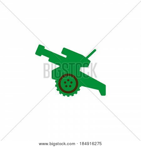 Howitzer cannon icon vector filled flat sign solid colorful pictogram isolated on white. Symbol logo illustration