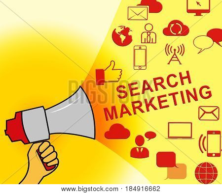 Search Marketing Representing Seo Engines 3D Illustration