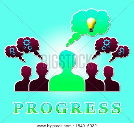 Progress People Means Betterment Headway 3D Illustration