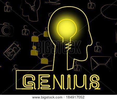 Genius Brain Means Specialist Solve And Guru
