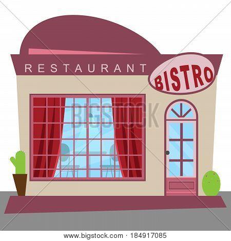 Restaurant Bistro Shows Gourment Food 3D Illustration