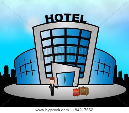 Hotel Resort Meaning City Accomodation 3D Illustration