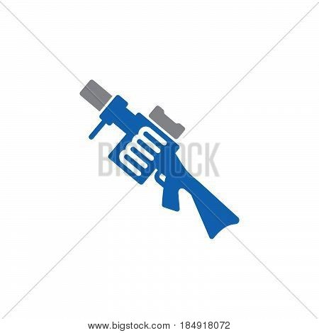 Grenade launcher icon vector filled flat sign solid colorful pictogram isolated on white. Symbol logo illustration
