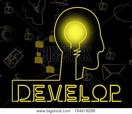 Develop Brain Indicates Success Evolve And Growth