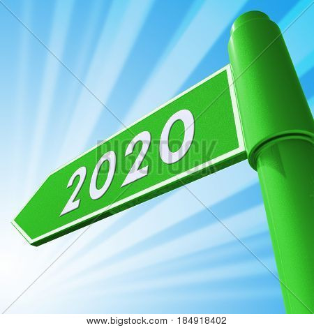 Two Thosand Twenty Displaying 2020 3D Illustration