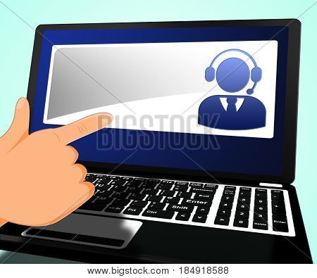 Helpdesk Voip With Blank Copyspace 3D Illustration