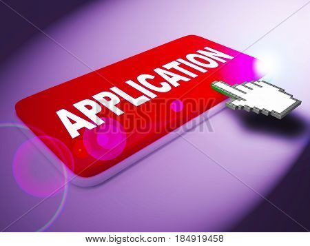 Application Key Indicates Membership Subscription 3D Rendering