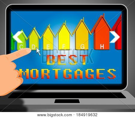 Best Mortgage Representing Real Estate 3D Illustration