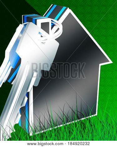Property Keys Grass Meaning New House 3D Rendering
