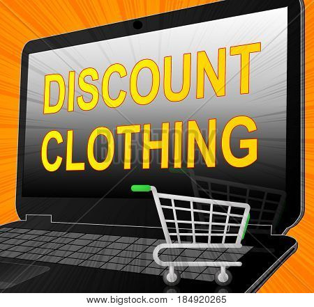 Discount Clothing Showischeap Clothes 3D Illustration