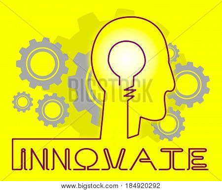 Innovate Cogs Means Innovating Creative And Ideas