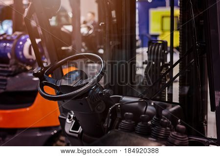 Cockpit Of Modern Forklift